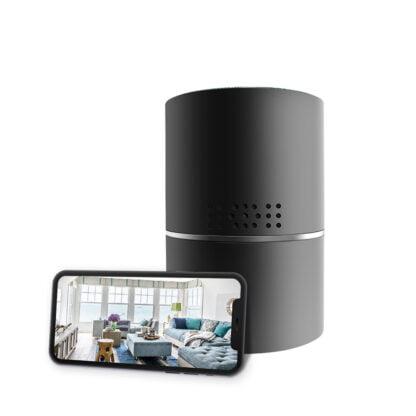 HD 1080P 330 Degree Cylinder WIFI Hidden Spy Camera Motion Detection Push