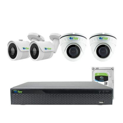 8MP 4k Indoor Outdoor 4 Cam DIY CCTV Home Security Camera Kit System