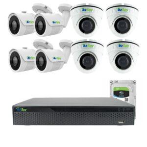8MP 4k Indoor Outdoor 8 Cam DIY CCTV Home Security Camera Kit