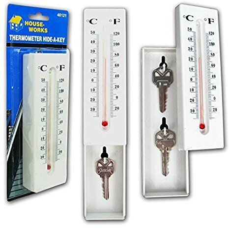 Thermometer Key Holder Secret Safe