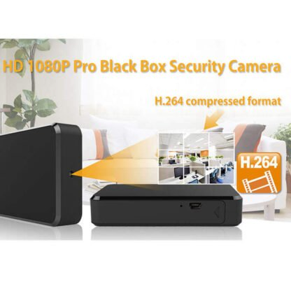 Black Box Hidden Camera 1080P Motion Push and 10 Hr Battery
