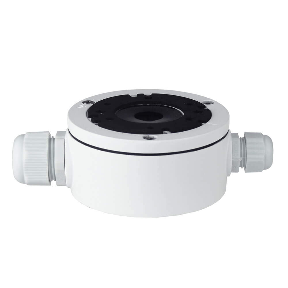 Weather Sealed White 108mm Camera Base Junction Box