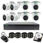 5MP Indoor Outdoor 8 Cam DIY CCTV Security Camera Kit