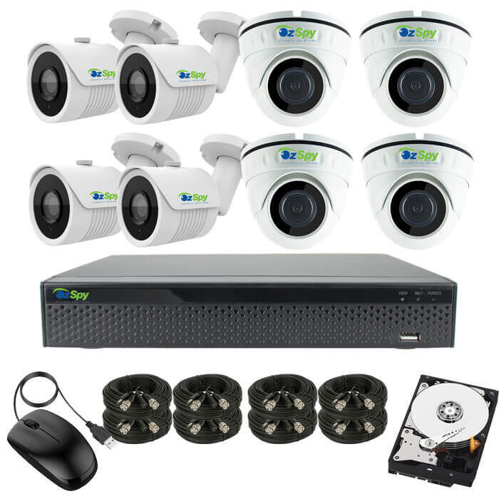 5MP Indoor Outdoor 8 Cam DIY CCTV Security Camera Kit