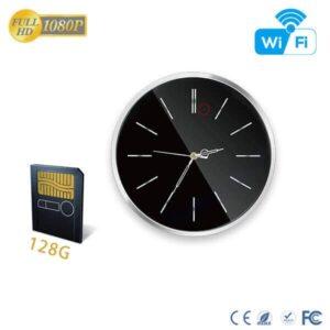 HD 1080P Spy Wall Clock WiFi Hidden Camera with 90 Degree
