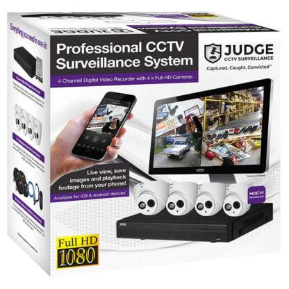 Judge 4 Camera 1080P Full HD Security Camera DIY Kit