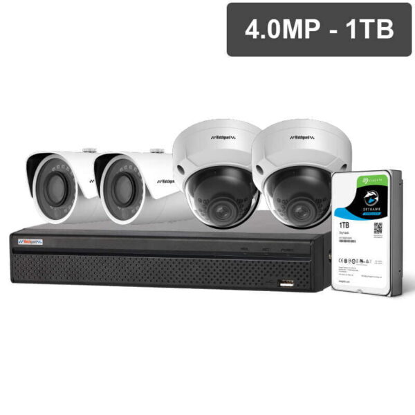 Compact Series 4 Camera 4.0MP IP Surveillance CCTV Kit