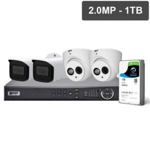 Pro Series 4 Camera 2.0MP IP CCTV Surveillance Kit