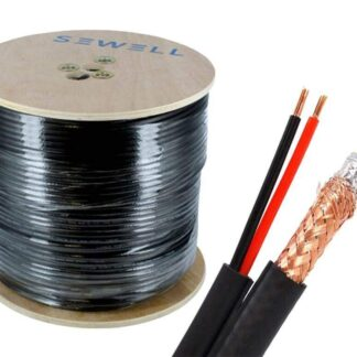 Premium Copper Braid Coax 100m Roll RG59 with Power