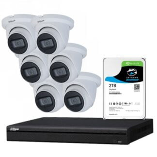 6 x 8MP Starlight IP Camera with 4 Channels NVR and 2TB HDD