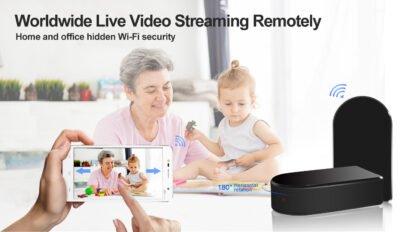 HD Black Box Spy Camera WIFI Hidden Camera with Motion and Push