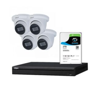 4 x 8MP Dahua Starlight IP Camera with 4 Channels NVR and 2TB HDD