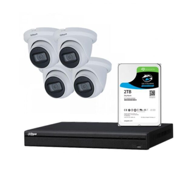 4 x 8MP Starlight IP Camera with 4 Channels NVR and 2TB HDD