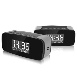 Tiny HD WIFI Concealed Spy Clock Hidden Camera with Remote View