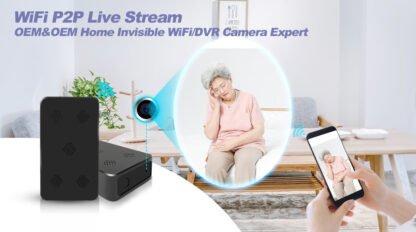 FHD Spy Black Box Hidden Camera Motion WIFI and 10 Hr Battery