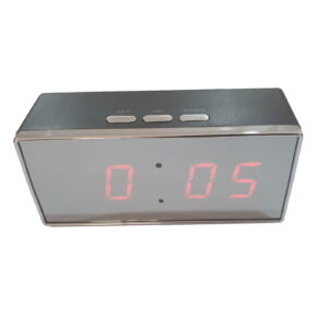 1080P FHD Mirror Table Clock Covert Camera with Push