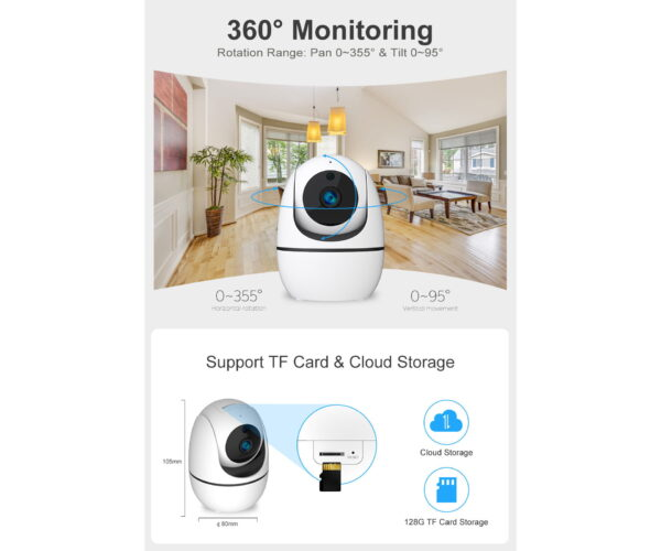 5MP WIFI Pan Tilt Smart Indoor Security Camera