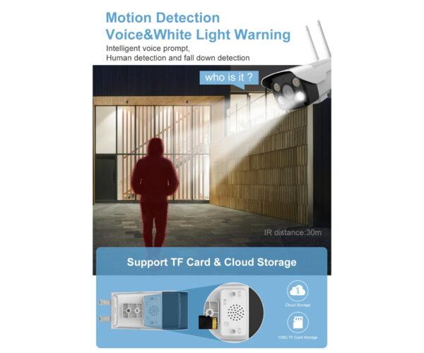 5MP WIFI Smart Outdoor Bullet Security Camera