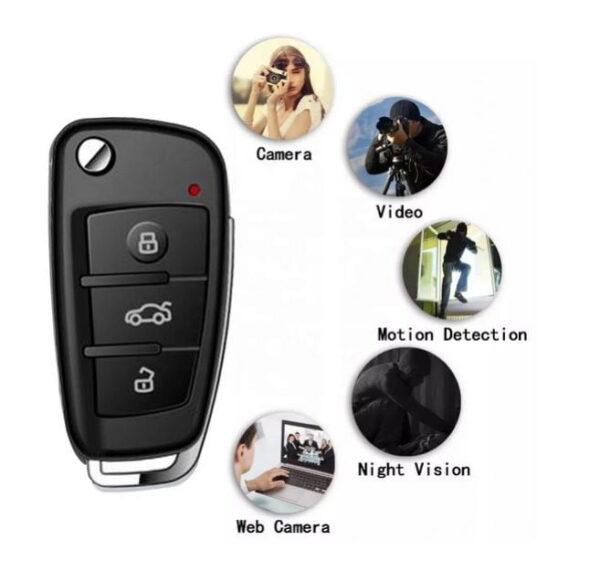 Car Key Fob Concealed Mini Spy Cam