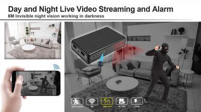 Power Bank Hidden Camera Motion WIFI 6m Night Vision